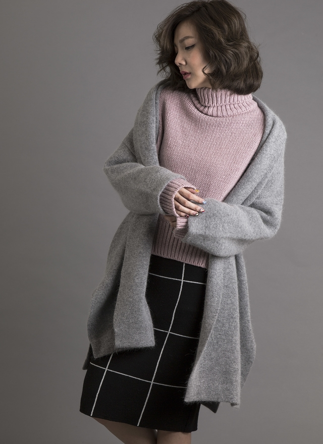 O0132 安哥拉羊毛披肩外套