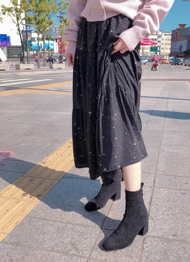 星空銀河拼接長裙
